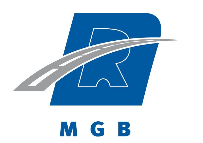 Logo mgb sur fond blanc